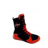 botas de boxeo para competición de caña alta color rojo el bronx