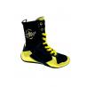 botas de boxeo para competición de caña alta color oro, dorado el bronx