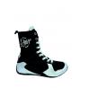botas de boxeo para competición de caña alta color plata el bronx