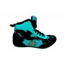 botas de competición de boxeo tiger en color azul el bronx