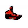 botas de boxeo competición caña media  color rojo el bronx