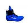 botas de boxeo de cordones y velcro color azul el bronx