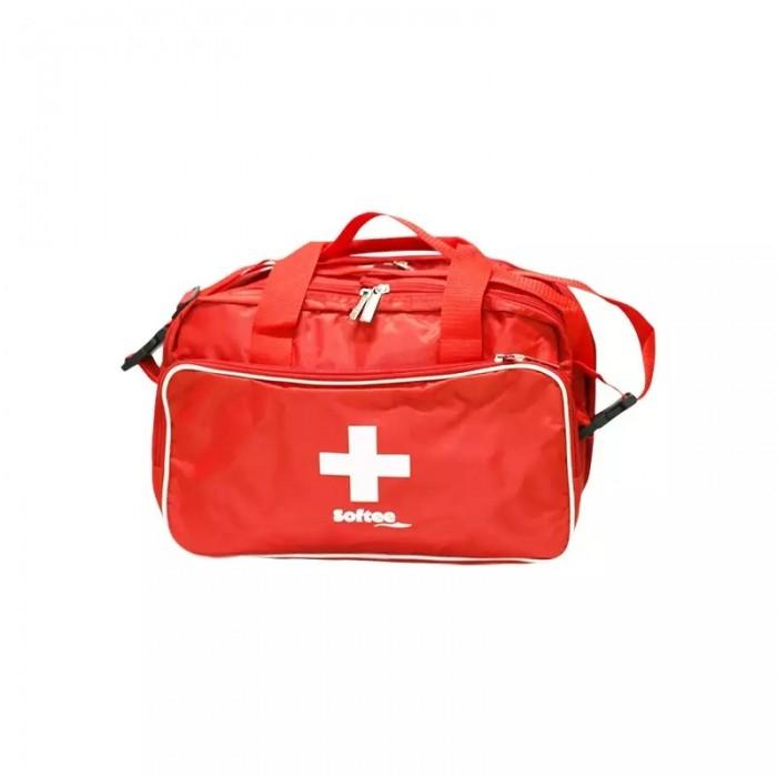bolsa botiquín rojo, con varios compartimentos