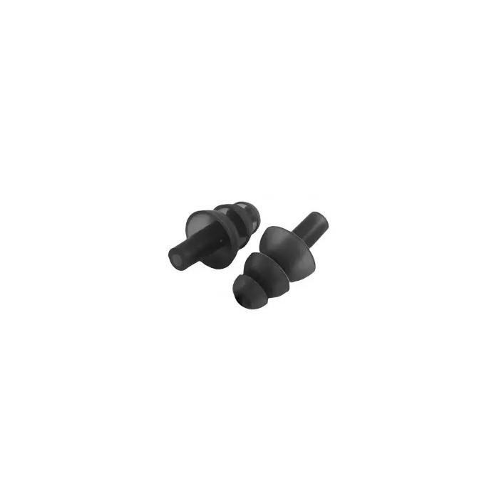 juego tapones oídos de silicona negro
