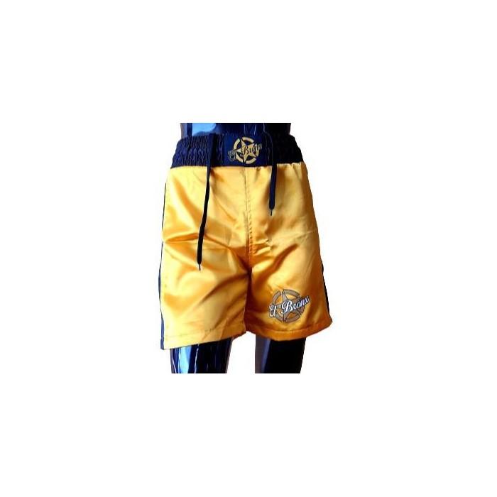 pantalon de boxeo de el bronx en color dorado con cintura elastica