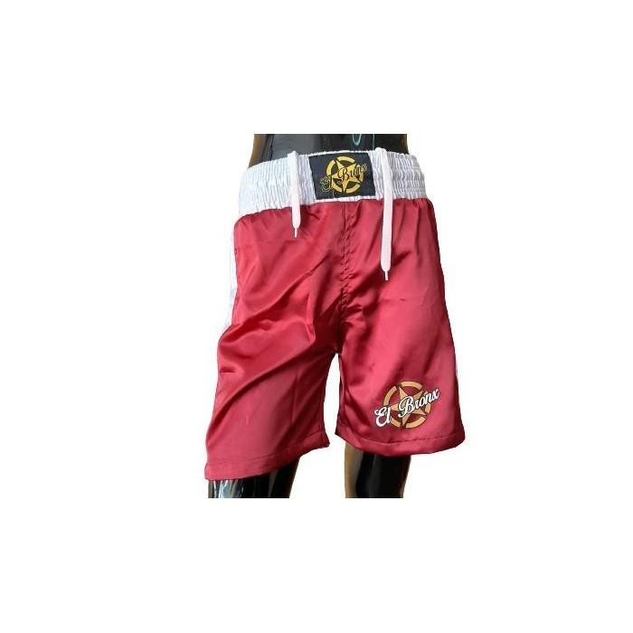 pantalon de boxeo en color granate de el bronx con cintura elastica