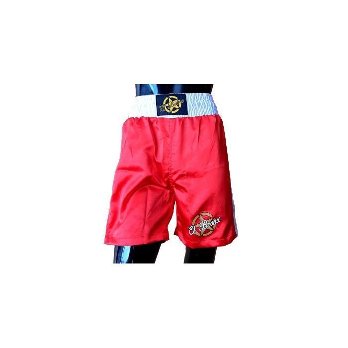 pantalón boxeo infantil profesional rojo
