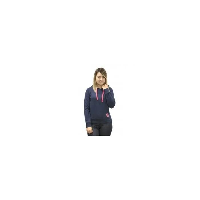 sudadera con capucha para mujer, azul marino