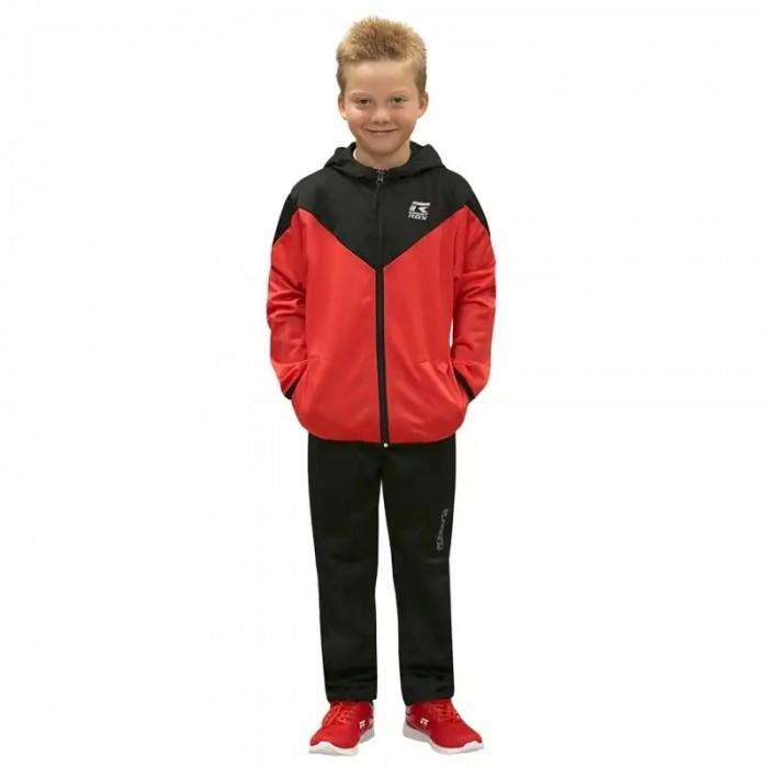 chándal de niño completo de color negro y rojo