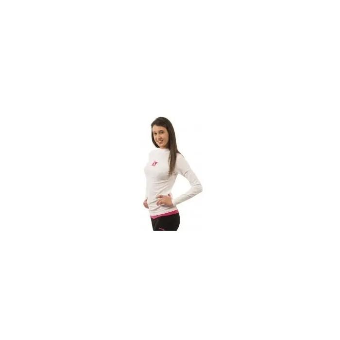 camiseta térmica manga larga de mujer color blanco