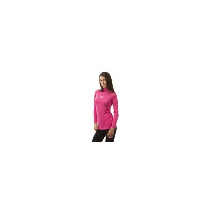 camiseta térmica manga larga de mujer color fucsia