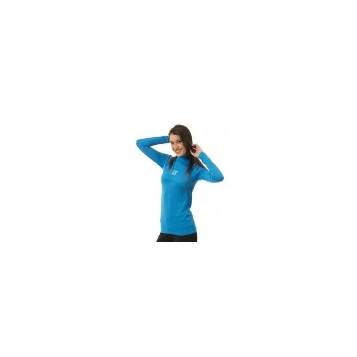 camiseta térmica manga larga de mujer azul celeste