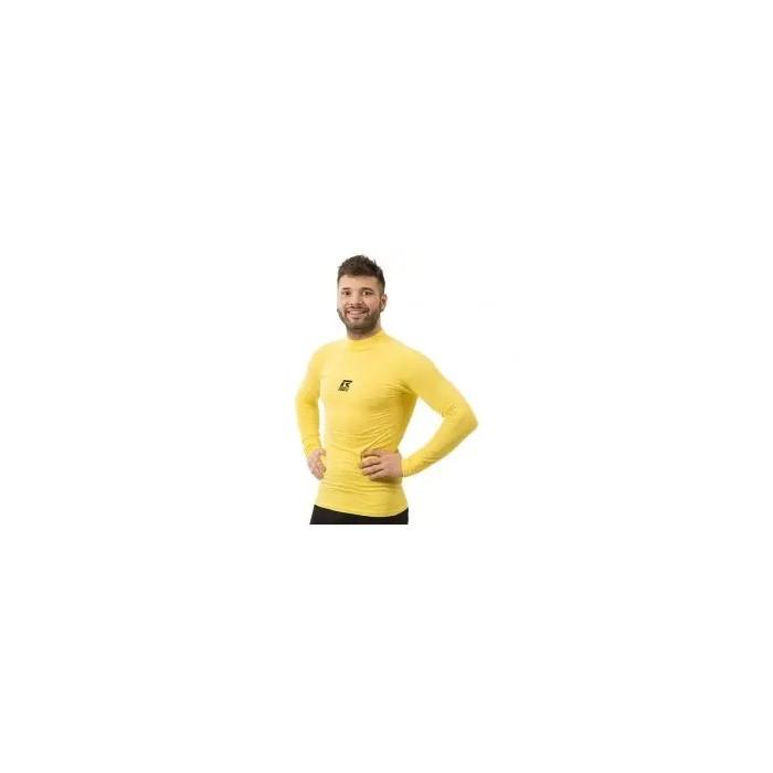 camiseta térmica manga larga de hombre color amarillo