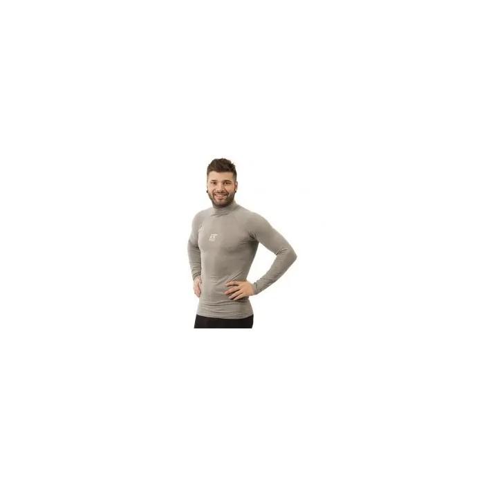 camiseta térmica manga larga de hombre color gris