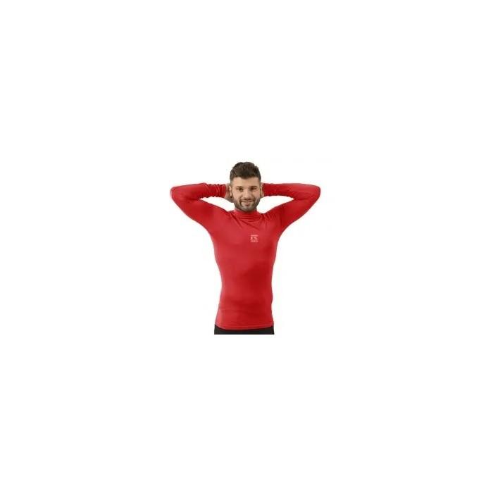 camiseta térmica manga larga de hombre color rojo