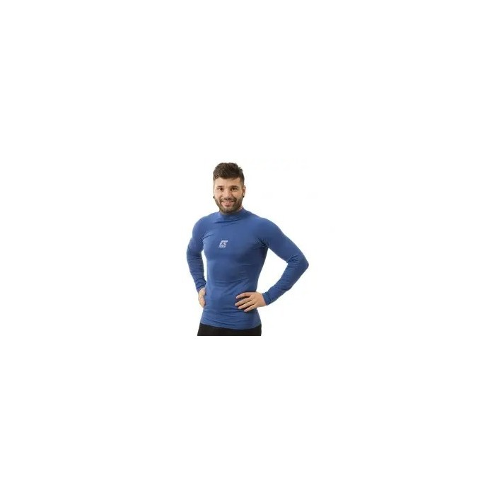 camiseta térmica manga larga de niño color azul
