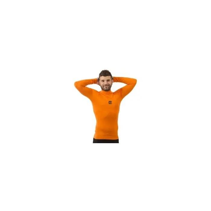 camiseta térmica manga larga de niño color naranja