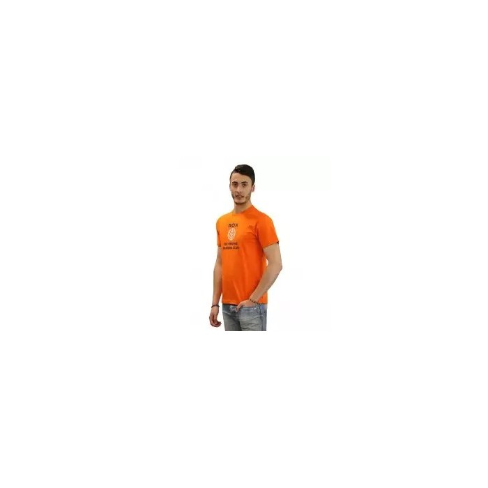 camiseta de niño cuello redondo color naranja