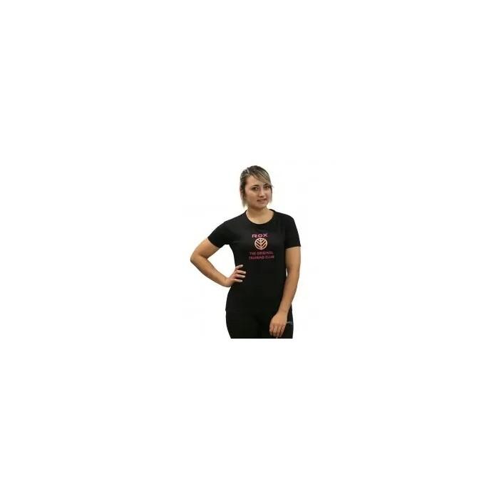 camiseta de mujer cuello redondo color negro