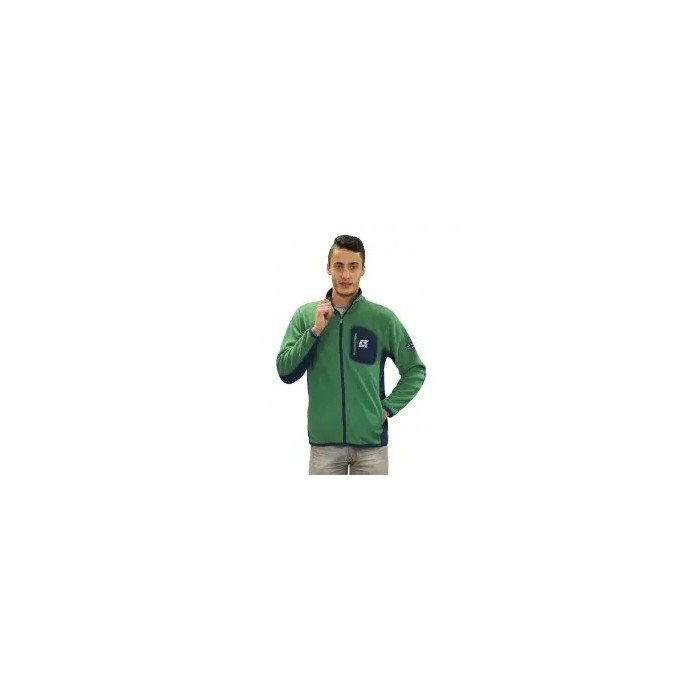 forro polar con cremallera de hombre color verde