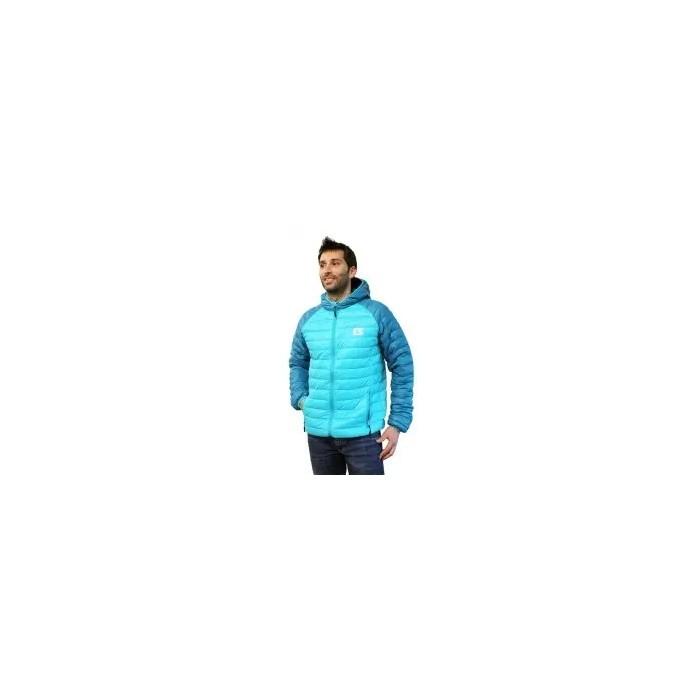 chaqueta con capucha de hombre en color azul