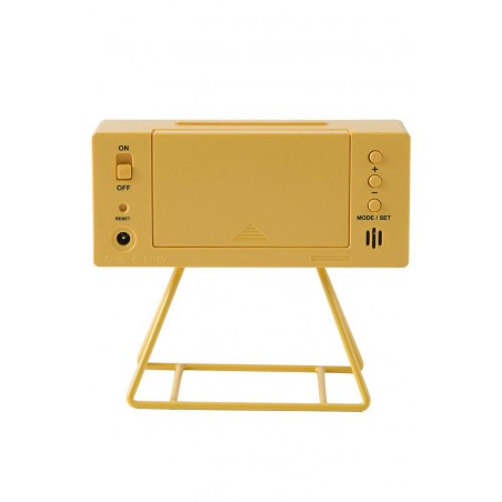 reloj analogico amarillo