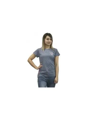 camiseta básica de mujer color azul