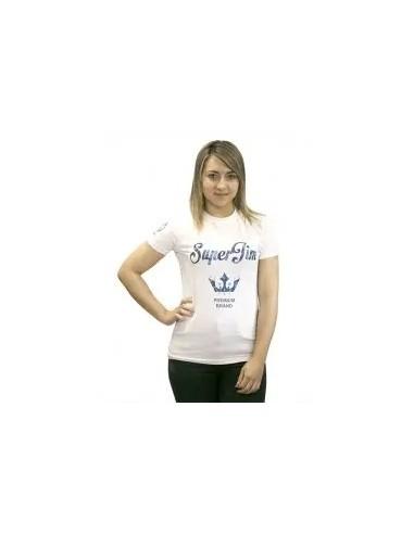 camiseta básica de mujer color blanco
