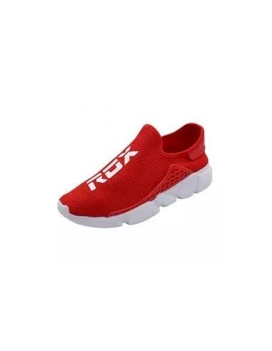 zapatillas sin cordones rojo