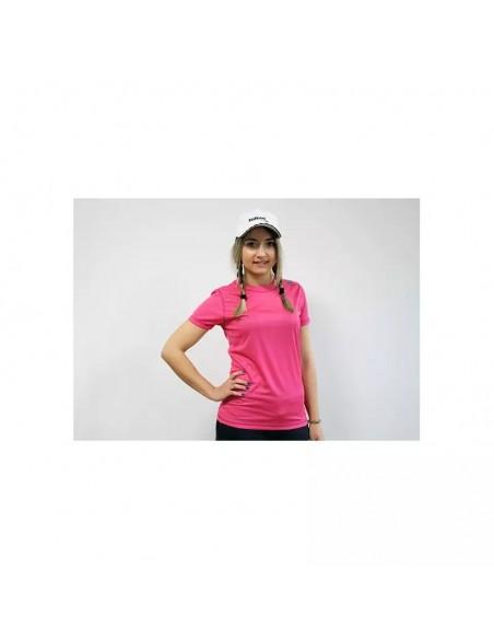 camiseta de mujer para pádel  en color fucsia