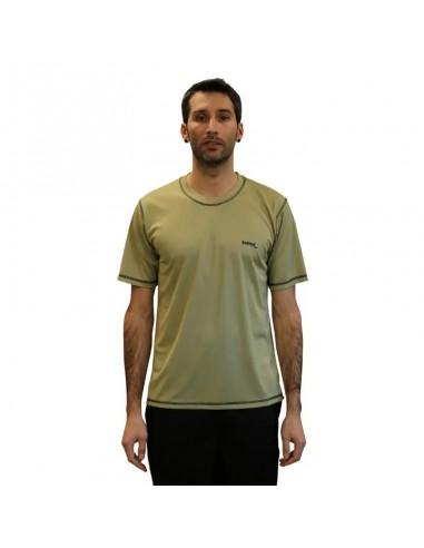 camiseta técnica ligera beige