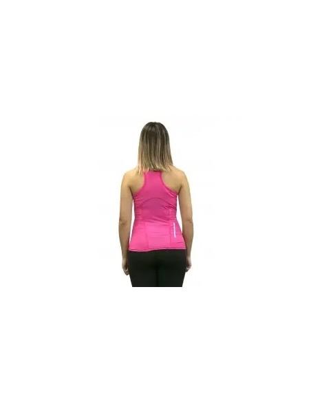 camiseta en tirantes running de mujer