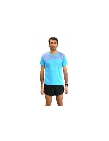 camiseta fitness manga corta de hombre color celeste