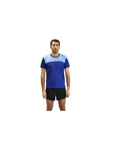 camiseta fitness manga corta de hombre color azul royal