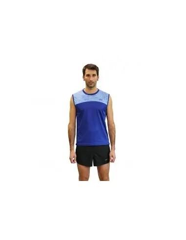 camiseta fitness sin manga  de hombre color azul royal