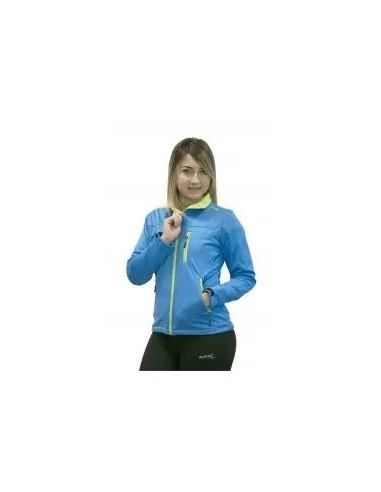 chaqueta ligera de mujer color  azul y verde