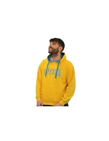 sudadera con capucha para hombre color amarillo
