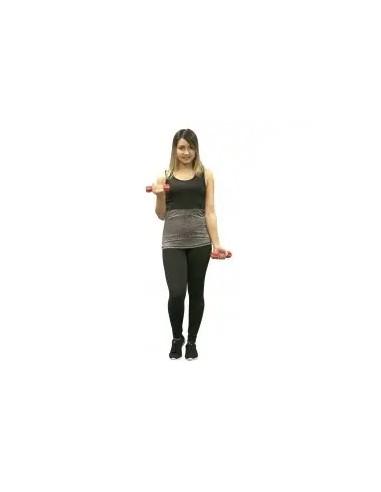 camiseta de tirantes para mujer color gris y negro