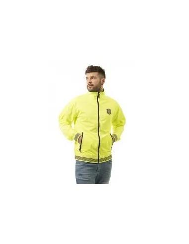 chaqueta ligera de hombre amarillo fluor