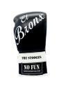 guantes de boxeo de piel, cierre con cuerdas, color negro y blanco