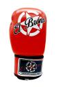 guantes de boxeo de piel, cierre con velcro, color rojo