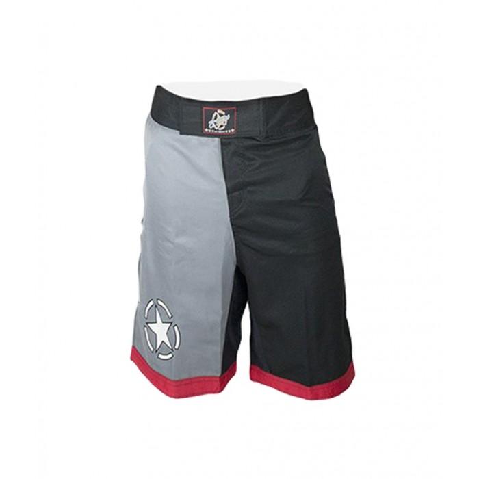 pantalon bicolor en negro y gris de el bronx