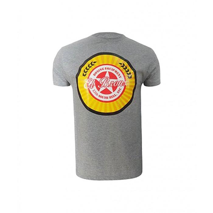 camiseta de algodon el bronx escudo en circulo central