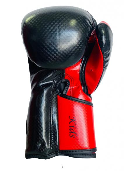 guante de velcro infantil en color negro y rojo de el bronx