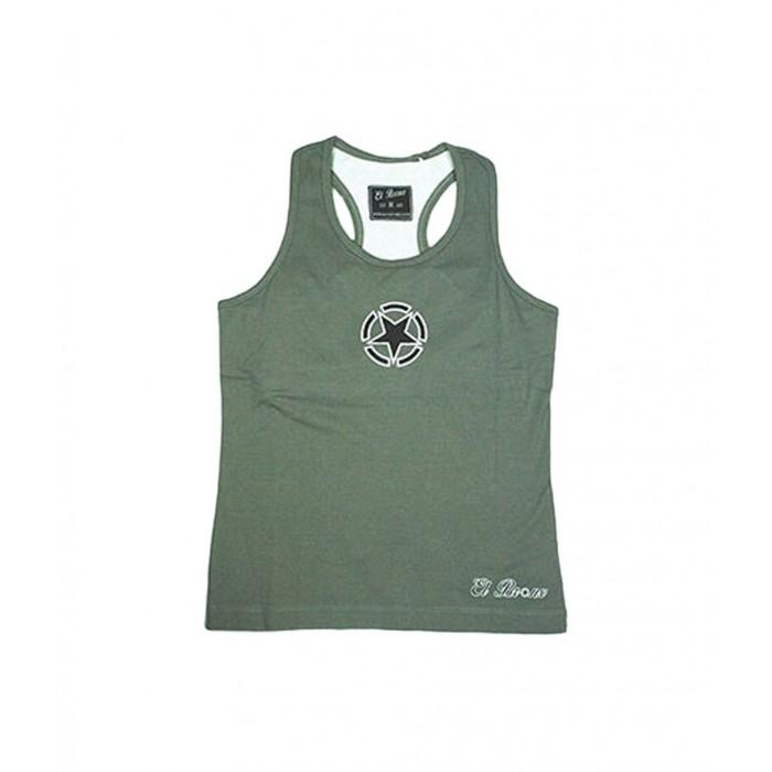 camiseta de mujer con top sujetador añadido perfecto para ejercicio en color gris