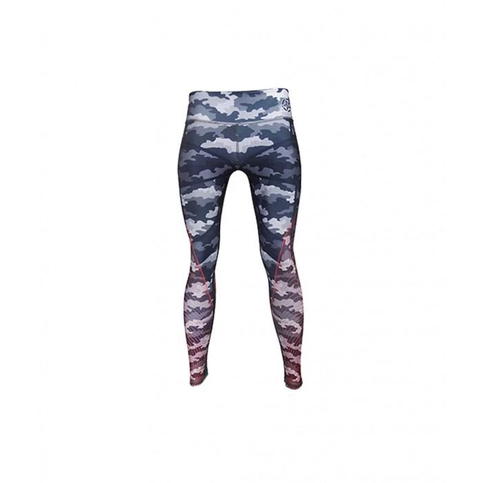 leggings para fitness, color azul y rojo