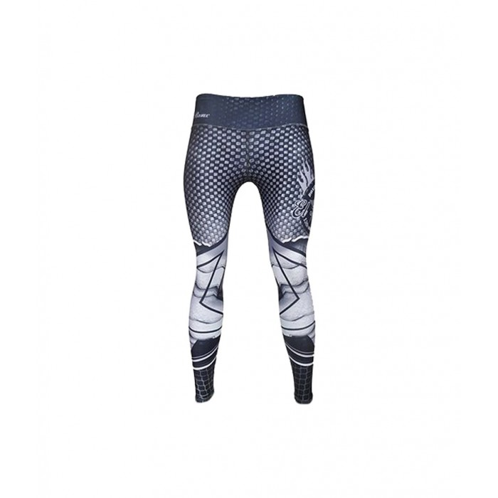 leggings para fitness, color blanco y negro