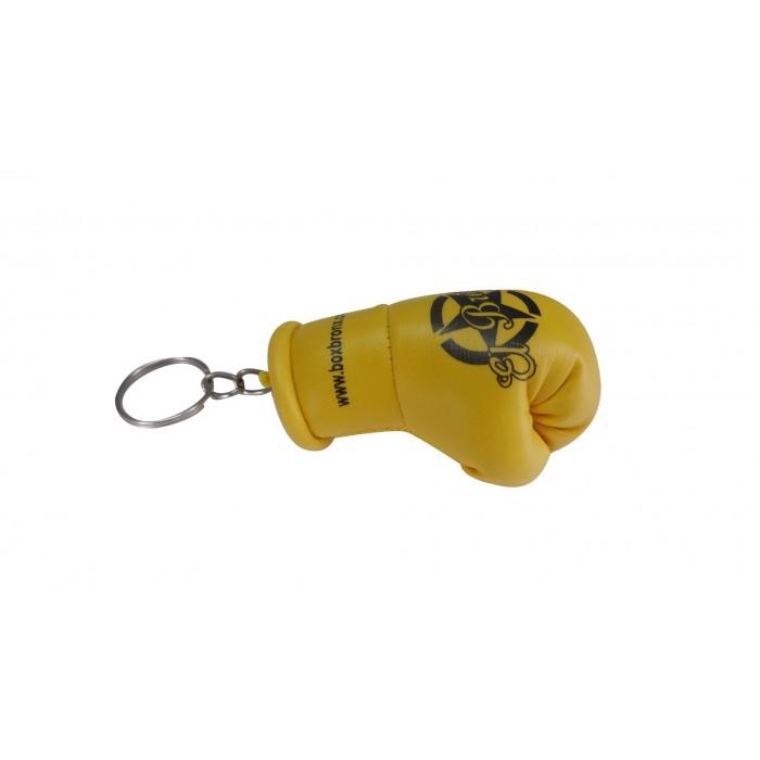 llavero guante de boxeo color amarillo