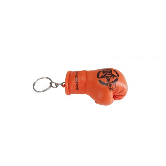 llavero guante de boxeo color naranja