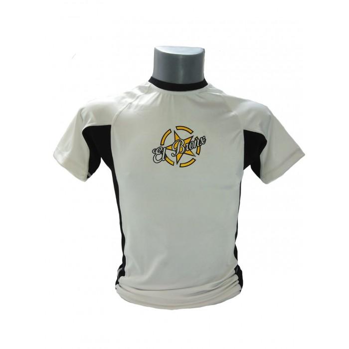 camiseta manga corta en color blanco de mma de el bronx